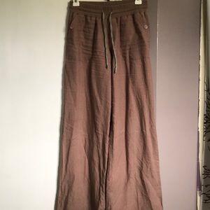 Wide leg linen pants S